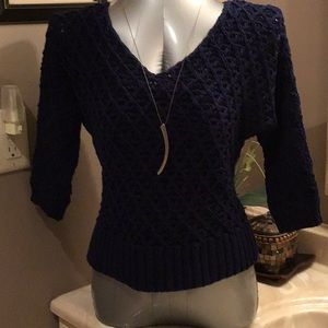 Nine West Vintage Collection Navy  sweater